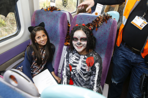Spooky Train with Healey J, I & N School & Grand Central 24.10.18